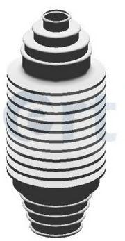 ERT Пыльник рулевой рейки универсальный (без ГУР) 10*170*30 ERT 500088E