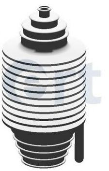 ERT Пыльник рулевой рейки универсальный (с ГУР) 10*185*34 ERT 500001E