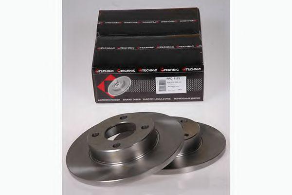 Диск гальмівний перед. Audi 80/90/100 76-91 (256*12) PROTECHNIC PRD1115