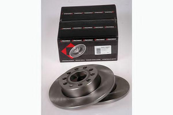 (260mm) Диск гальмівний зад. Scoda Octavia 04-/Caddy 04-/Golf 03-/Jetta 05-/Touran 03- PROTECHNIC PRD5201