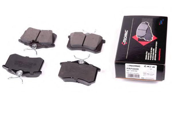 Комплект тормозных колодок, дисковый тормоз  арт. PRP0005