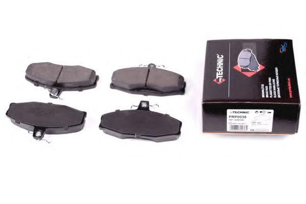Комплект тормозных колодок, дисковый тормоз  арт. PRP0036