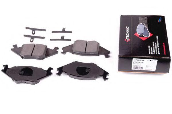 (з кріпл.) Гальмівні колодки перед. диск. VW Golf ll, Jetta ll, Polo 81-94 /Seat Cordoba, Ibiza II  PROTECHNIC PRP0039