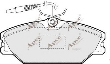 Brake pad set apecbraking PAD776