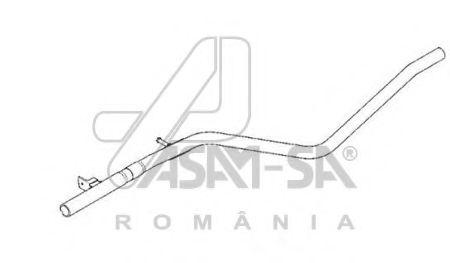 ASAM RENAULT Глушитель промежуточный (резонатор) Duster 1.5dCi 4x2 Euro4 ASAM 61866