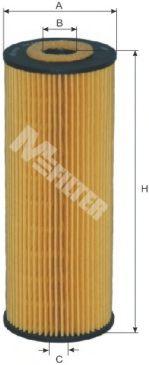 Фильтр масляный MB, SSANGYONG (пр-во M-filter)                                                        арт. TE622