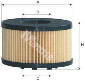 Фильтр масляный FORD TRANSIT (пр-во M-Filter)                                                         арт. TE624