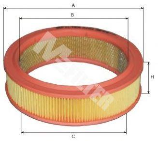 Фильтр воздушный ВАЗ 2101-2107, 2108-09 (карбюратор) (пр-во M-Filter)                                 арт. A101