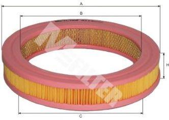 Фильтр воздушный Honda Civic 1.3, 1.5 -87 (пр-во M-Filter)                                            арт. A114