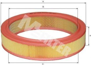 Фильтры воздуха салона автомобиля Фильтр воздушный AUDI, SKODA, VW (пр-во M-filter)  арт. A123
