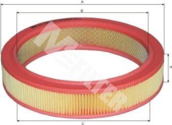Фильтр воздушный SKODA FAVORIT (пр-во M-filter)                                                       арт. A124