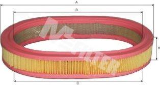 Фильтры воздуха салона автомобиля Фильтр воздушный FORD Escort (пр-во M-Filter)                                                         арт. A126