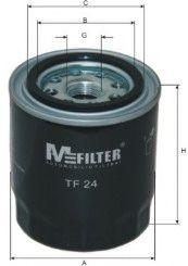 Фильтр масляный OPEL, KIA, MITSUBISHI (пр-во M-filter)                                                арт. TF24