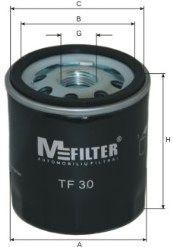 Фильтры масляные Фильтр масляный FORD, SKODA (пр-во M-Filter)  арт. TF30