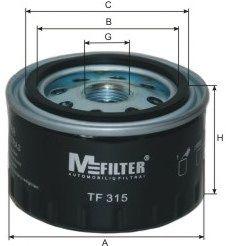 Фильтр масляный DACIA, RENAULT (пр-во M-Filter)                                                       арт. TF315