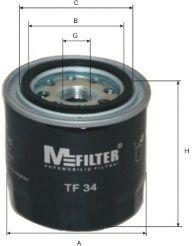 Фильтр масляный Mitsubishi Colt, Lancer  (пр-во M-filter)                                             арт. TF34