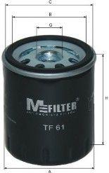 Фильтр масляный Citroen (пр-во M-Filter)                                                              арт. TF61