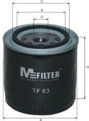 Фильтр масляный ВАЗ 2101-07 2121-21213 21214 2129 2131 (высокий 93мм) (пр-во M-FILTER)                арт. TF63