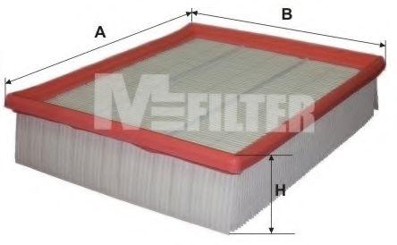 Фильтр воздушный AUDI, VW (пр-во M-filter)                                                           BOSCH арт. K173