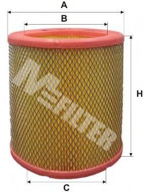 Фильтр воздушный CITROEN, PEUGEOT (пр-во M-filter)                                                    арт. A393