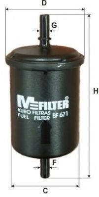 Фильтр топл. BMW, OPEL, SKODA (пр-во M-Filter)                                                        арт. BF671