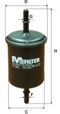 Фильтр топливный DAEWOO LANOS 97-, VAG (пр-во M-filter)                                               арт. BF672