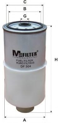 Фильтр топлива VW PASSAT 1.6TD-2.5TD 09.86-09.01 MFILTER DF304