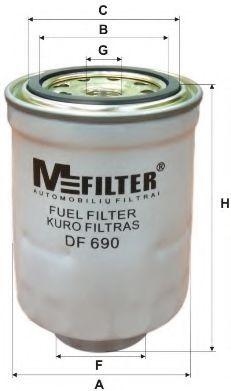 Фильтр топл. TOYOTA; FORD; MAZDA (пр-во M-Filter)                                                     арт. DF690