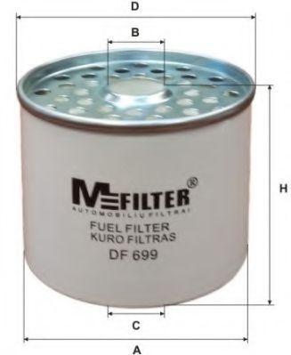 Фильтр топл. дизель CITROEN JUMPER, PEUGEOT BOXER (пр-во M-Filter)                                    арт. DF699