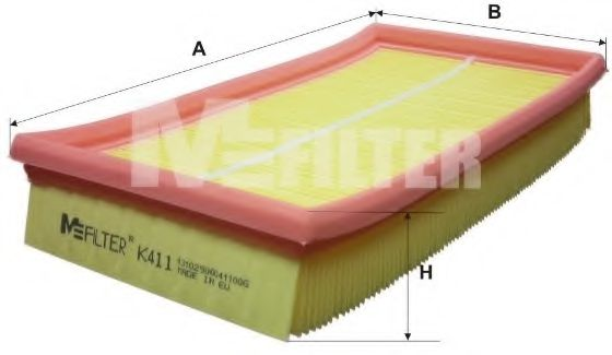 Фильтр воздушный FORD FOCUS (пр-во M-filter)                                                          арт. K411