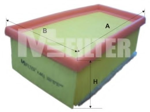 Фильтр воздушный RENAULT LAGUNA (пр-во M-filter)                                                      арт. K461