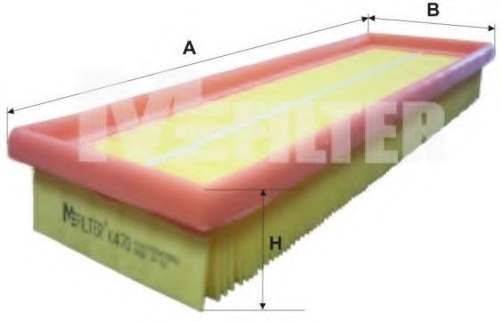 Фильтры прочие Фильтр воздушный RENAULT (пр-во M-filter)  арт. K470