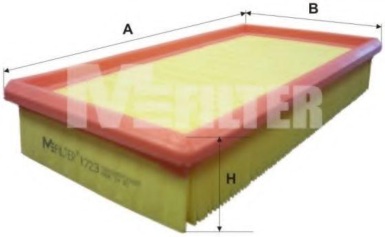 Фильтр воздушный RENAULT (пр-во M-filter)                                                             арт. K723