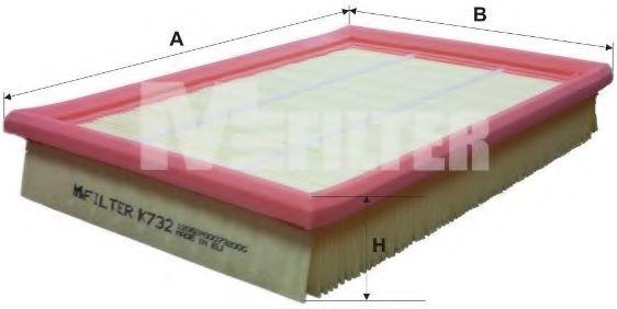Фильтр воздушный FORD FIESTA (пр-во M-filter)                                                        HENGSTFILTER арт. K732