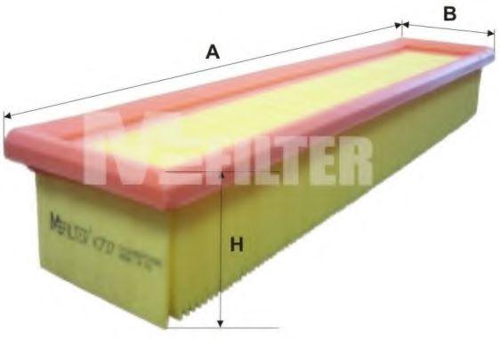Фильтр воздушный RENAULT (пр-во M-filter)                                                             арт. K737