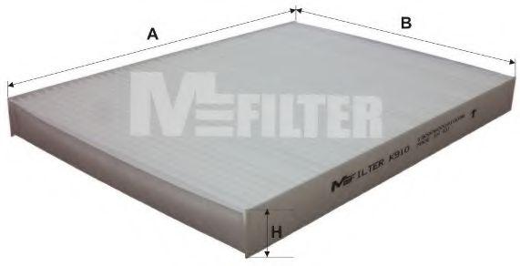 Фильтр салона AUDI, SKODA, VW (пр-во M-Filter)                                                       MFILTER K910