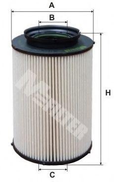 Фильтр топлива AUDI A3 1.9 TDI 03/03- VW GOLF V 1.9/2.0 TDI MFILTER DE3124