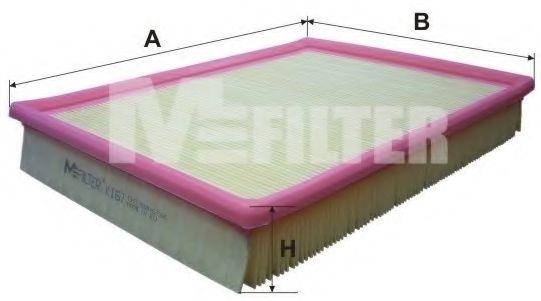 Фильтр воздушный VOLVO (пр-во M-filter)                                                               арт. K167