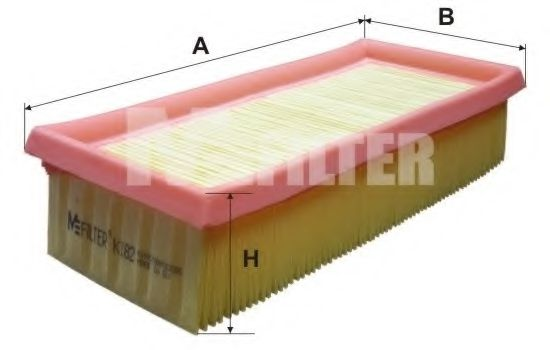 Фильтры прочие Фильтр воздушный VW (пр-во M-filter)  арт. K182