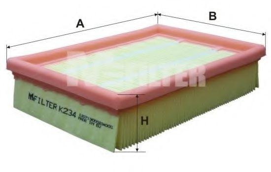 Фильтры прочие Фильтр воздушный FORD Fiesta  1.8D (пр-во M-filter)                                                   арт. K234