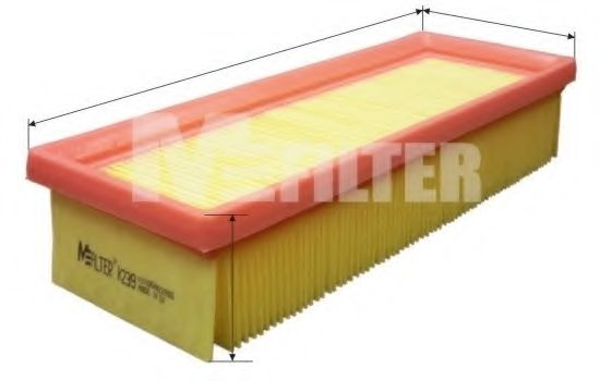 Фильтры прочие Фильтр воздушный FIAT, TAVRIA (пр-во M-filter)  арт. K239