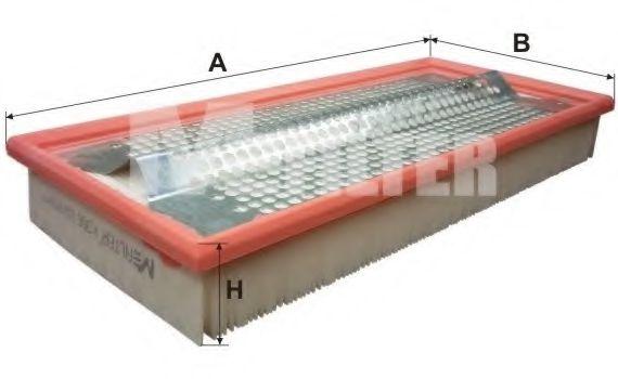 Фильтр воздушный MB (пр-во M-filter)                                                                 MFILTER арт. K358