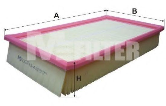 Фильтр воздушный MB (пр-во M-filter)                                                                 MANNFILTER арт. K374