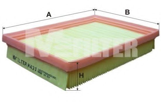 Фильтры прочие Фильтр воздушный Kia Pride (пр-во M-filter)                                                           арт. K431