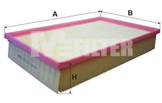 Фильтр воздушный VOLVO S60 (пр-во M-filter)                                                          MFILTER арт. K435