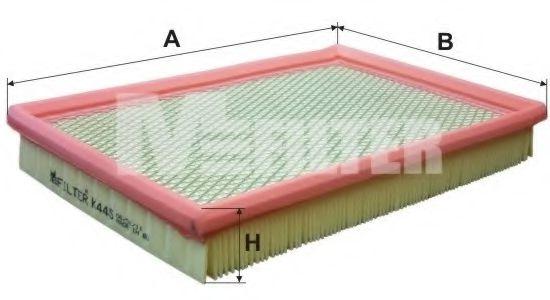 Фильтр воздушный KIA SPORTAGE (пр-во M-Filter)                                                        арт. K445