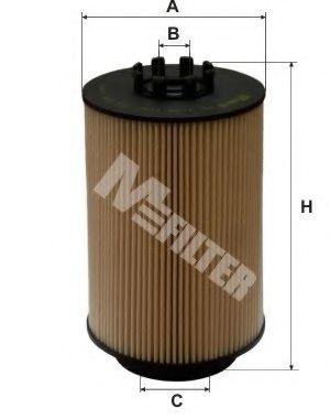 Фильтр топлива MAN (D0834/D0836) D2066LF01/02/03/04/11/12/21 (COMMON RAIL) MFILTER DE3106