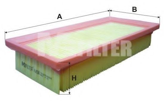 Фильтр воздушный Fiat (пр-во M-Filter)                                                                арт. K458