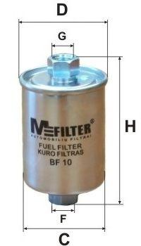 Фильтр топливный MFILTER BF10