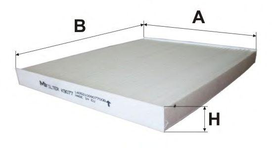 Фильтр салона HYUNDAI ix35  KIA SPORTAGE III (пр-во M-Filter)                                         арт. K9077